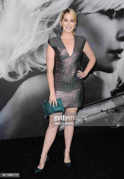 Kelsey Darragh attends the premiere of Atomic Blonde at The Theatre at Ace Hotel on July 24 2017 in Los Angeles California
