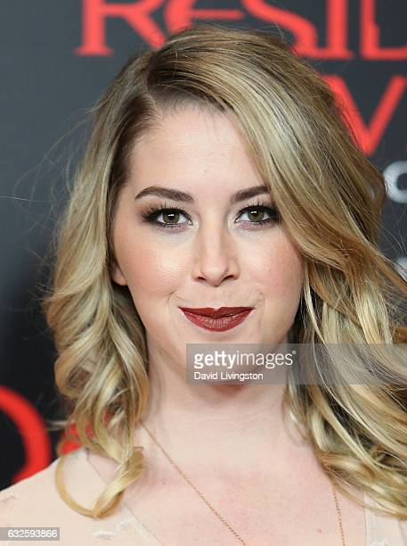 Kelsey Darragh attends the premiere of Sony Pictures Releasing's Resident Evil The Final Chapter at Regal LA Live A Barco Innovation Center on...