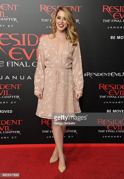 Kelsey Darragh Video Producer and Development Partner at BuzzFeed Motion Pictures arrives at the premiere of Sony Pictures Releasing's Resident Evil...