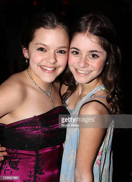 Kelsey Fowler and Alison Jaye Horowitz attend Miscast 2011 MCC Theater's 25th Anniversary Gala at Hammerstein Ballroom on March 14 2011 in New York...