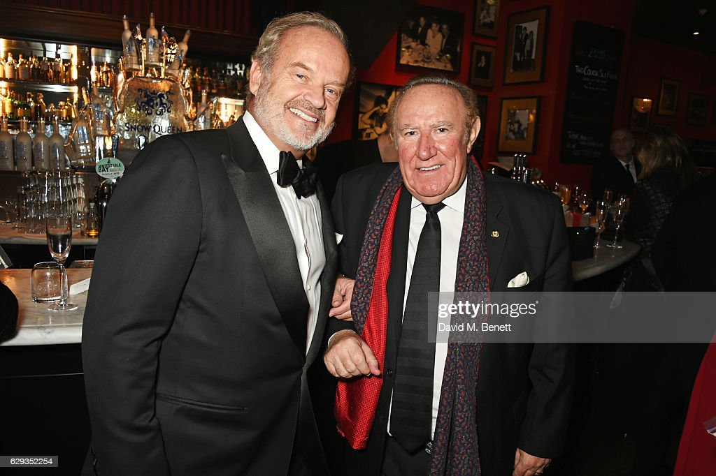 Kelsey Grammer (L) and Andrew Neil attend the Snow Queen Cigar Smoker of the Year awards at Boisdale of Canary Wharf on December 12, 2016 in London, England.