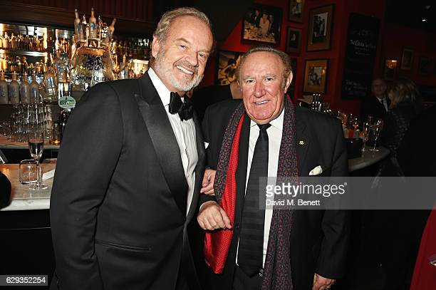 Kelsey Grammer and Andrew Neil attend the Snow Queen Cigar Smoker of the Year awards at Boisdale of Canary Wharf on December 12 2016 in London England