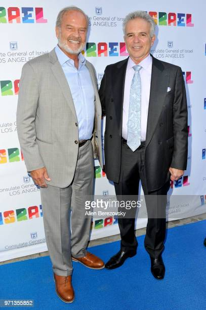 Kelsey Grammer and Anthony Denison attend a private celebration of The 70th Anniversary of Israel hosted by the Consul General of Israel Los Angeles...