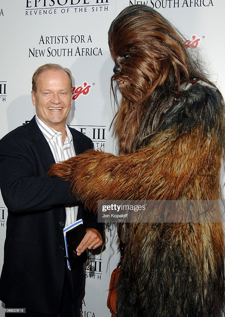 Kelsey Grammer and Chewbacca during 'Star Wars: Episode III, Revenge of The Sith' Premiere to Benefit Artists for a New South Africa Charity - Arrivals at Mann Village Theater in Westwood, California, United States.