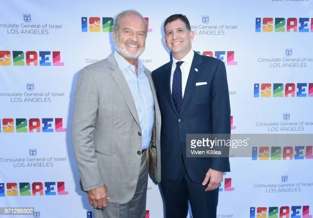 Kelsey Grammer and Consul General of Israel Los Angeles Sam Grundwerg attend the 70th Anniversary of Israel celebration in Los Angeles on Sunday June...