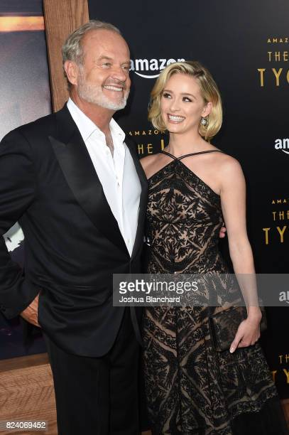 Kelsey Grammer and Greer Grammer arrive at the Premiere Of Amazon Studios' The Last Tycoon at the Harmony Gold Preview House and Theater on July 27...