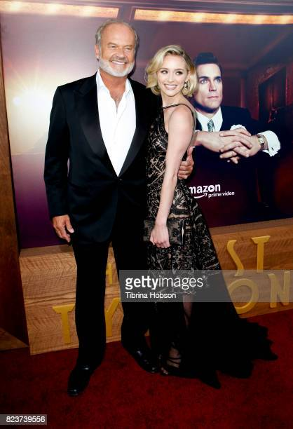 Kelsey Grammer and Greer Grammer attend the premiere of Amazon Studios 'The Last Tycoon' at the Harmony Gold Preview House and Theater on July 27...