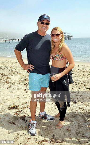 Kelsey Grammer and his daughter Spencer Grammer attend the Oceana Celebrity Free Expression Session Free Surf Competition on September 28, 2008 at...