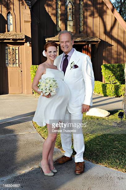 Kelsey Grammer and Kayte Grammer renew their wedding vows at the Little Church of the West after one year of marriage on June 2 2012 in Las Vegas...