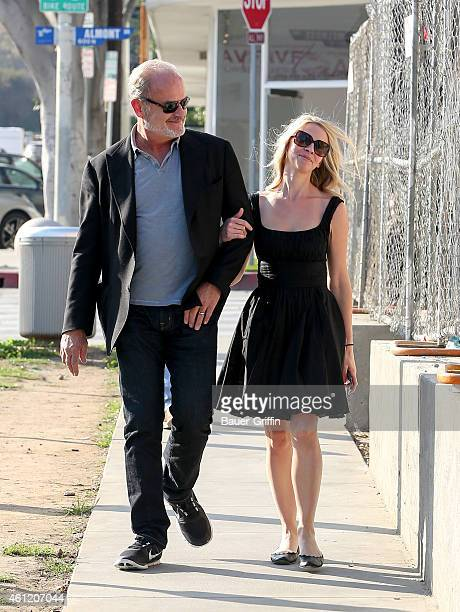 Kelsey Grammer and Kayte Walsh are seen in Los Angeles on January 08 2015 in Los Angeles California