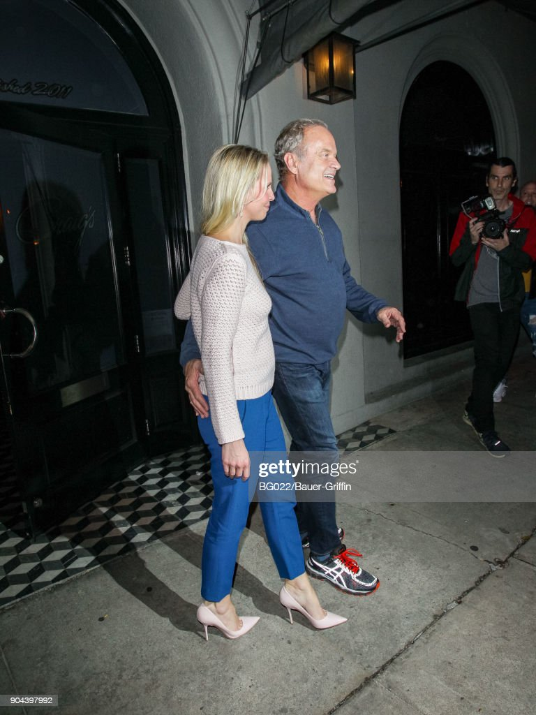 Kelsey Grammer and Kayte Walsh are seen on January 12, 2018 in Los Angeles, California.