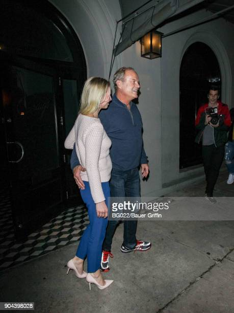 Kelsey Grammer and Kayte Walsh are seen on January 12 2018 in Los Angeles California