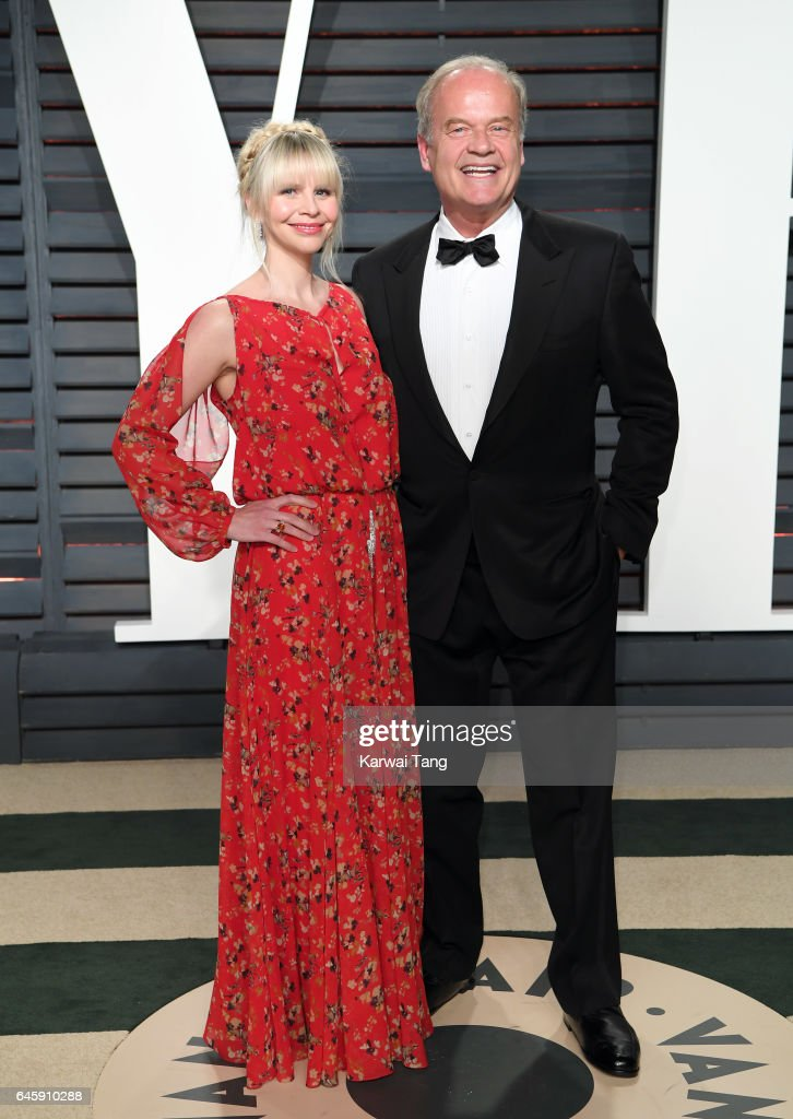 Kelsey Grammer and Kayte Walsh arrive for the Vanity Fair Oscar Party hosted by Graydon Carter at the Wallis Annenberg Center for the Performing Arts on February 26, 2017 in Beverly Hills, California.