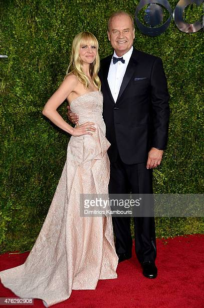 Kelsey Grammer and Kayte Walsh attend the 2015 Tony Awards at Radio City Music Hall on June 7 2015 in New York City
