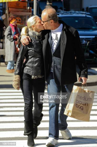 Kelsey Grammer and Kayte Walsh walk in Midtown Manhattan on March 3 2011 in New York City