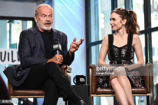 Kelsey Grammer and Lily Collins attend the Build Series to discuss the Amazon new series 'The Last Tycoon' at Build Studio on July 26 2017 in New...