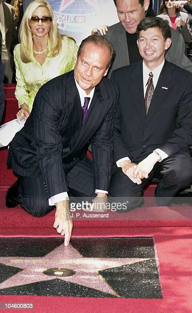 Kelsey Grammer and wife Camille Grammer during Kelsey Grammer Honored with a Star on the Hollywood Walk of Fame at Hollywood Boulevard in Hollywood...