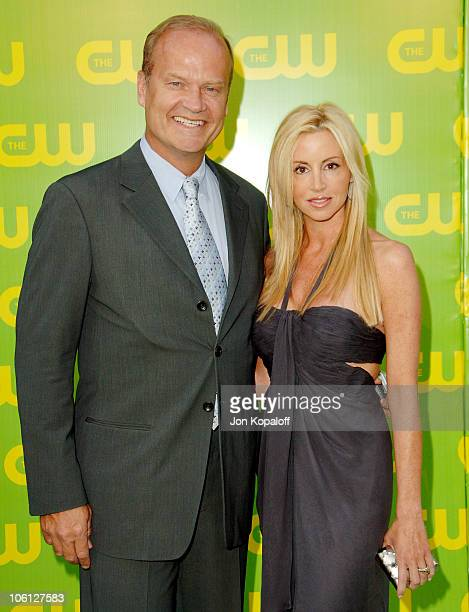 Kelsey Grammer and wife Camille Grammer during The CW Launch Party Arrivals at WB Main Lot in Burbank California United States