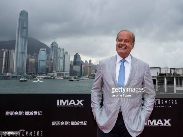 Kelsey Grammer arrives at the worldwide premiere screening of Transformers Age of Extinctionat the on June 19 2014 in Hong Kong