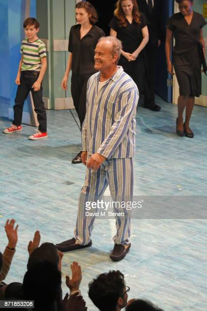 Kelsey Grammer bows at the curtain call during the press night performance of 'Big Fish The Musical' at The Other Palace on November 8 2017 in London...