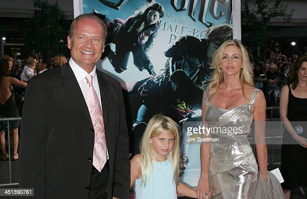 Kelsey Grammer, Camille Donatacc and daughter, Mason Olivia attend the Harry Potter and the Half-Blood Prince premiere at Ziegfeld Theatre on July 9,...