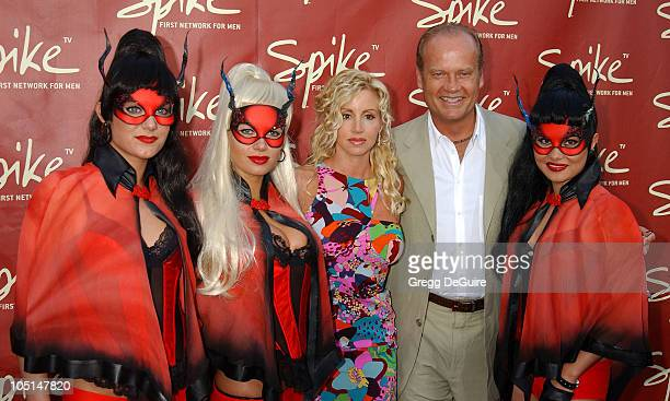 Kelsey Grammer & Camille Grammer during Launch of Spike TV at the Playboy Mansion at Playboy Mansion in Los Angeles, California, United States.