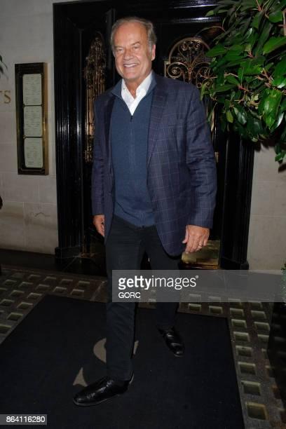 Kelsey Grammer leaving Scotts restaurant Mayfair on October 20 2017 in London England