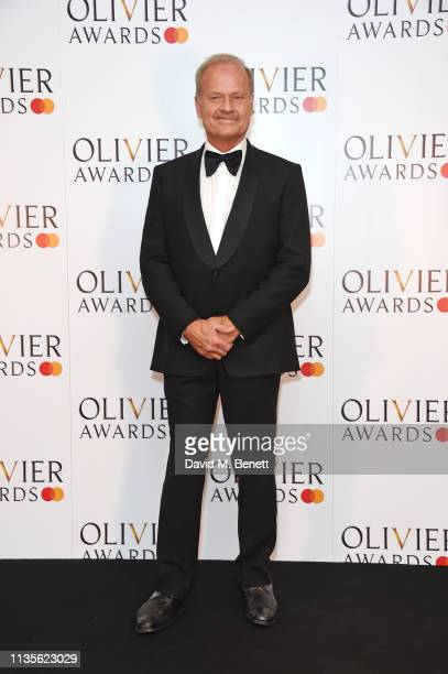Kelsey Grammer poses in the press room at The Olivier Awards 2019 with Mastercard at The Royal Albert Hall on April 7 2019 in London England
