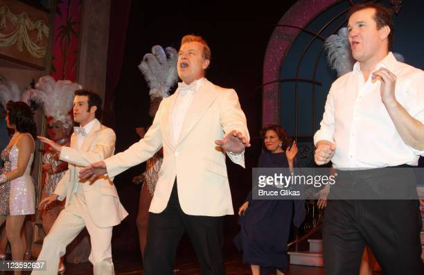 Kelsey Grammer Tony Winner Douglas Hodge and cast during the curtain call at Kelsey Grammer Douglas Hodge Robin De Jesus Fred Applegate's final...