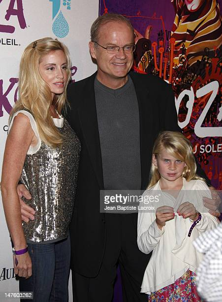 Kelsey Grammer, wife Camille Grammer and daughter Mason Olivia Grammer arrive for the Cirque Du Soleil Opening Night Gala For Kooza at Santa Monica...
