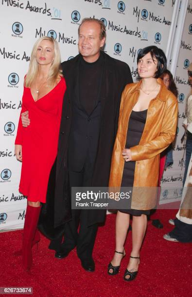 Kelsey Grammer with wife Camille Donatacci and daughter Spencer arrive at the My VH1 Music Awards.