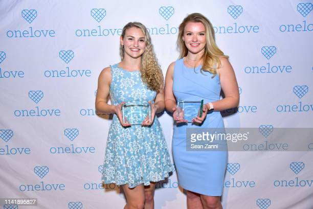 Kelsey Kempner and Julia Hussey attend The One Love Foundation's One Night for One Love at Cipriani 42nd Street on April 10 2019 in New York City