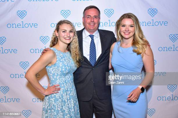 Kelsey Kempner Chris Soloman Julia Hussey attend The One Love Foundation's One Night for One Love at Cipriani 42nd Street on April 10 2019 in New...