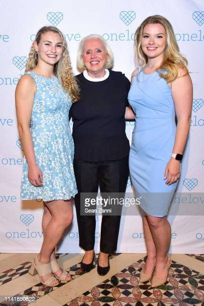 Kelsey Kempner Sharon Love and Julia Hussey attend The One Love Foundation's One Night for One Love at Cipriani 42nd Street on April 10 2019 in New...