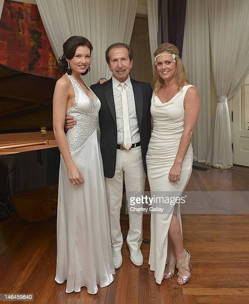 Kelsey Kroon Bebe Founder and Chairman Manny Mashouf and Sr Public Relations Manager Bebe Alexis Avery Cittadine attend a 'Casablanca' party at a...