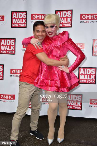 Kelsey Louie and Phi Phi O'Hara attend the 2018 AIDS Walk New York on May 20 2018 in New York City