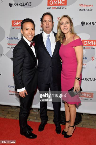 Kelsey Louie Jes Staley and Debbie Staley attend the GMHC 35th Anniversary Spring Gala at Highline Stages on March 23 2017 in New York City
