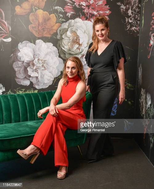 Kelsey McEwen and Lindsey Deluce pose at the CTV Upfront Portrait Studio at Sony Centre For Performing Arts on June 06, 2019 in Toronto, Canada.