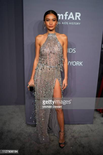 Kelsey Merritt attends the 2019 amfAR New York Gala at Cipriani Wall Street on February 06 2019 in New York City