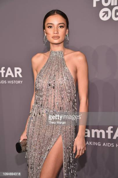 Kelsey Merritt attends the amfAR New York Gala 2019 at Cipriani Wall Street on February 6 2019 in New York City