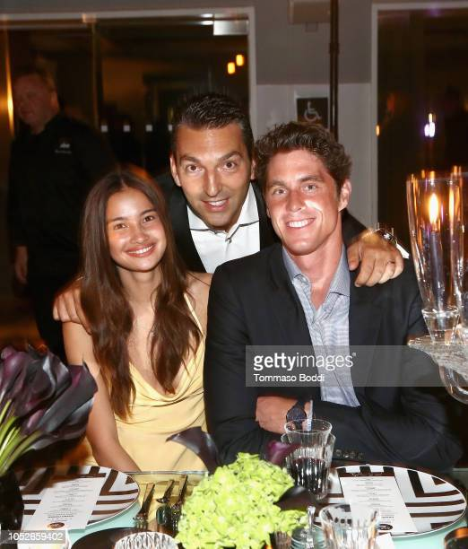 Kelsey Merritt Chief Operating Officer of Disruptive Group at sbe Sebastien Silvestri and Conor Dwyer attend the Taste of sbe Grand Dinner at Skybar...