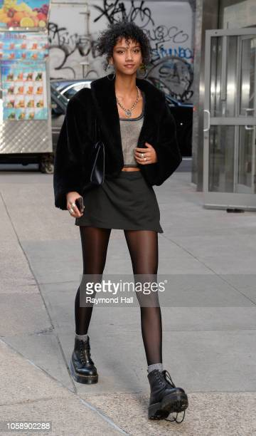 Kelsey Merritt seen in the streets of Manhattan before the rehearsal of the Victoria Secret Fashion Show on November 7 2018 in New York City
