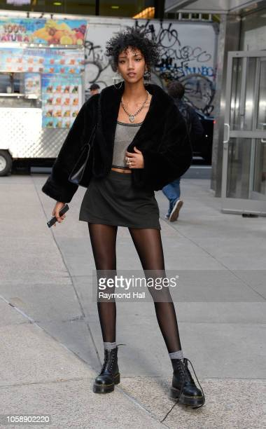Kelsey Merritt seen in the streets of Manhattan before the Victoria Secret Fashion Show rehearsal on November 7 2018 in New York City