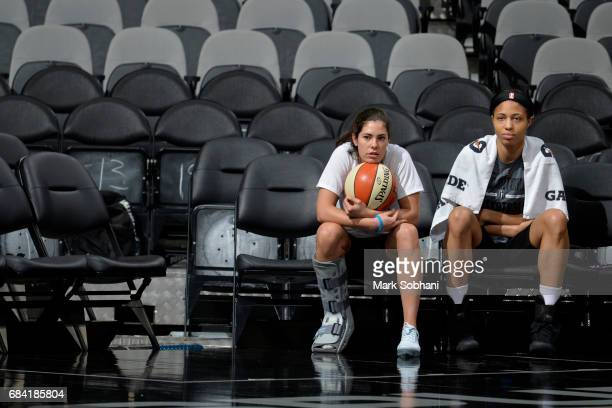 Kelsey Plum and Isabelle Harrison of the San Antonio Stars during practice on May 10 at the ATT Center in San Antonio Texas NOTE TO USER User...