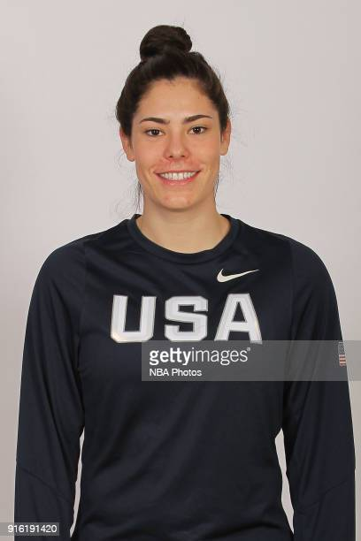 Kelsey Plum of the 2018 USA Basketball Women's National Team poses for a portrait during training camp at the University of South Carolina on...