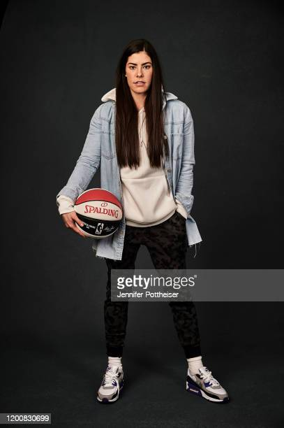 Kelsey Plum of the Las Vegas Aces poses for a portrait during the 2020 NBA AllStar circuit on February 14 2020 at the Westin Michigan Avenue Hotel in...