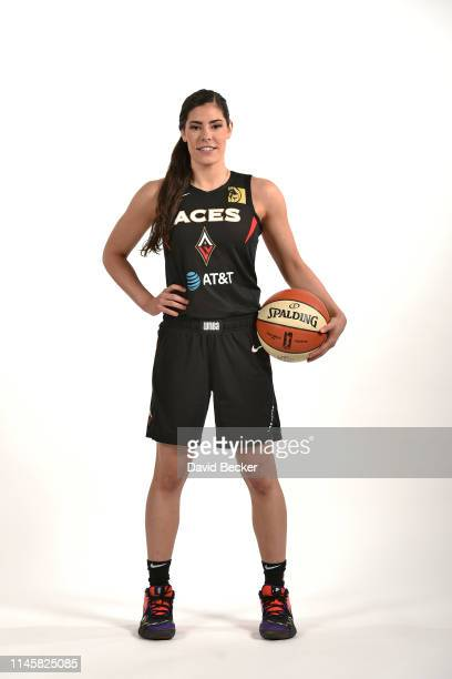 Kelsey Plum of the Las Vegas Aces poses for a portrait during WNBA Media Day at the Mandalay Bay Events Center on Monday May 23 in Las Vegas Nevada...