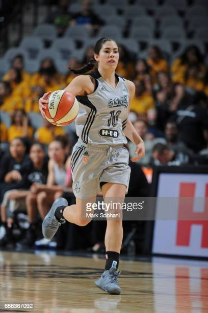 Kelsey Plum of the San Antonio Stars dribbles the ball against the Dallas Wings on May 25 2017 at the ATT Center in San Antonio Texas NOTE TO USER...