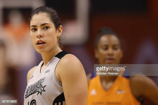 Kelsey Plum of the San Antonio Stars during the WNBA game against the Phoenix Mercury at Talking Stick Resort Arena on July 30 2017 in Phoenix...