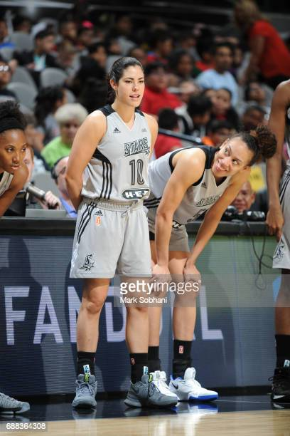 Kelsey Plum of the San Antonio Stars gets ready to enter the game against the Dallas Wings on May 25 2017 at the ATT Center in San Antonio Texas NOTE...